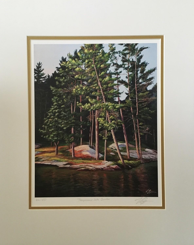 Temperance Lake Sunrise, Print Matted & Signed
