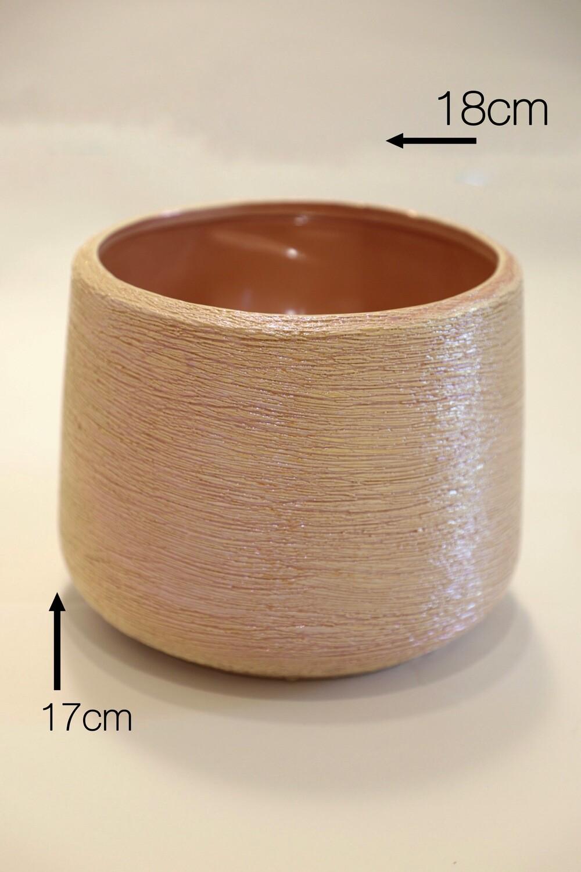 Pink Ceramic Pot  (17x18cm)