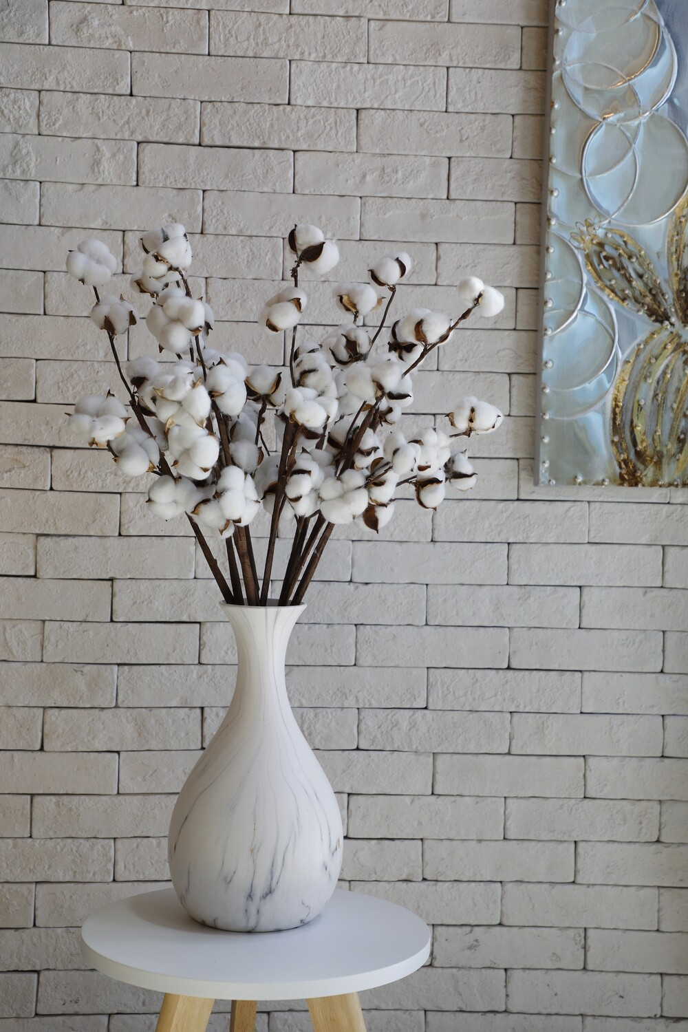 Cotton With Vase