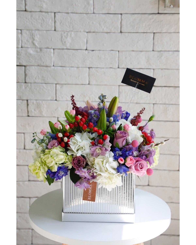 Box With Flower Arrangement