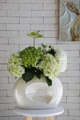 Hydrangea With Vase