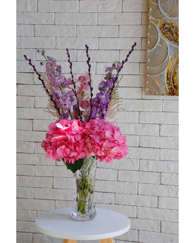Flower Arrangement With Vase