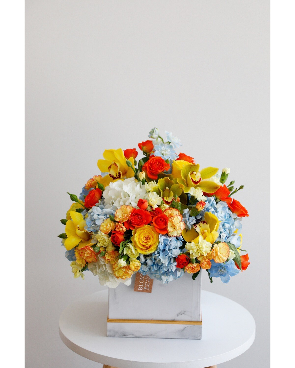 Mix Flowers With White Box