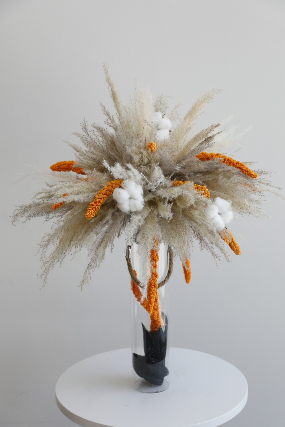 Dry Flowers With Glass