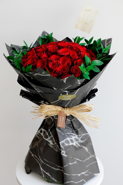 Red Rose (45pcs) 70cm
