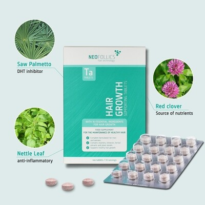 Neofollics Hair Growth Supporting Tablets (100 Tablets) 激活髮量補充丸