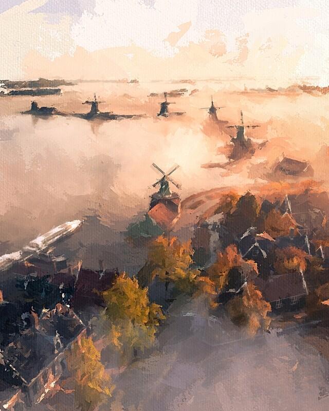 Волшебное утро в Нидерландах