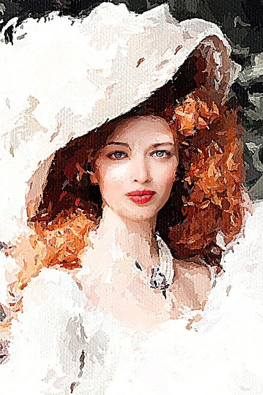 Молодая девушка в шляпе