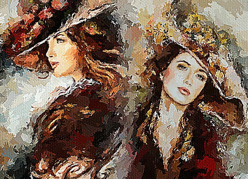 Красивые женщины в шляпе