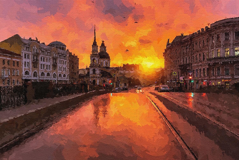 Закат в Петербурге