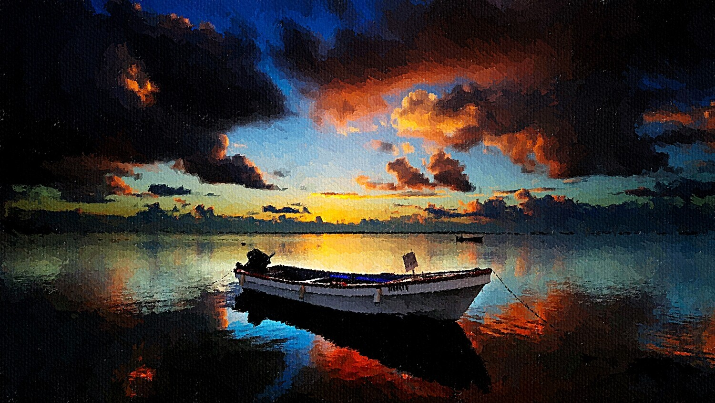Тучи над озером