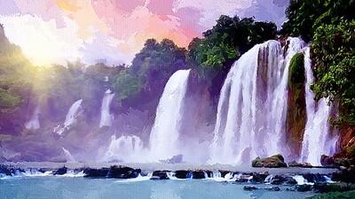 Водопады в джунглях