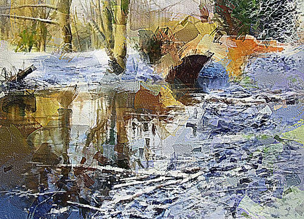 Замерший ручей