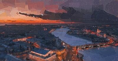Вечерний Васильевский остров