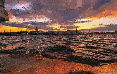 Летний закат в Петербурге