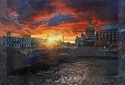 Закат над Исаакиевским собором