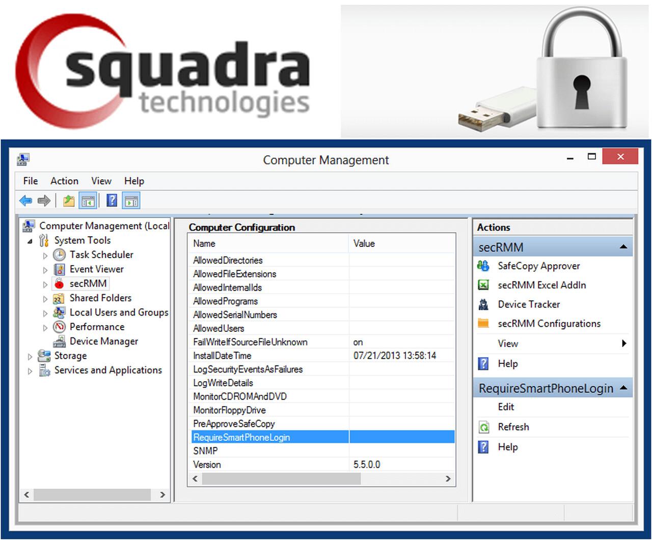 secRMM Data Loss Prevention (DLP) software