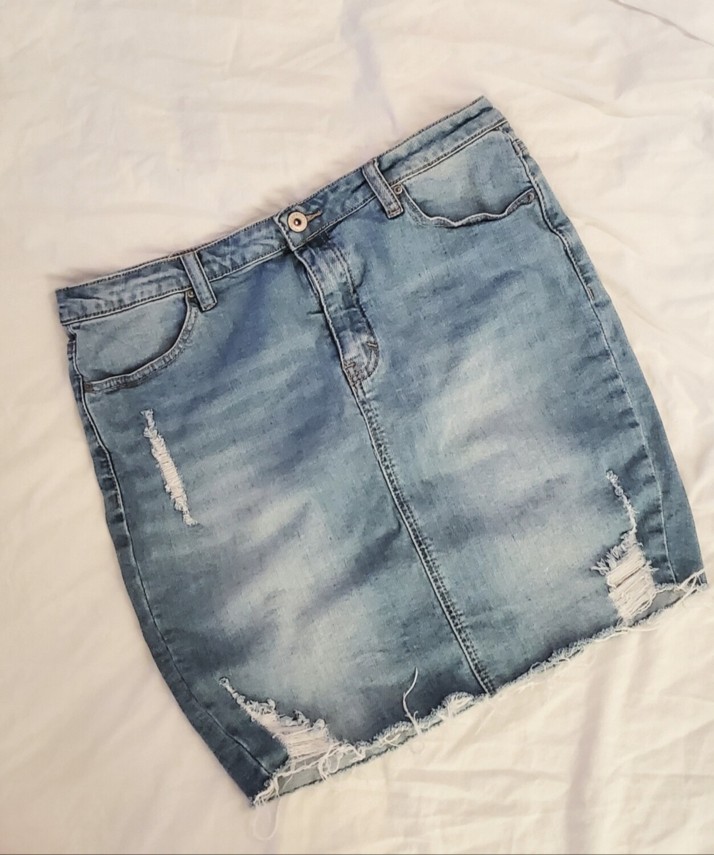 Jupe en jeans 《large》