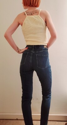 Jeans garage taille haute《9》