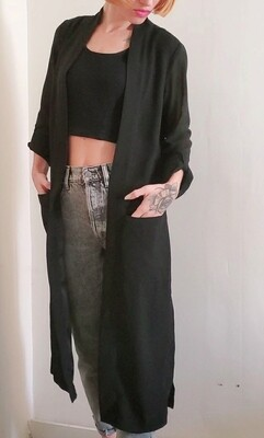 veste longue en voile noir《XS》