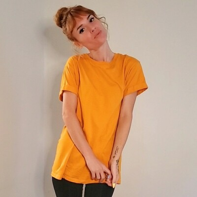 T-shirt jaune moutarde《XS》