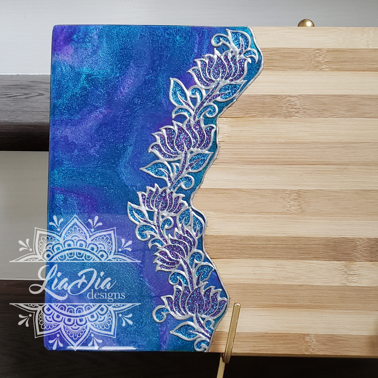 Lotus Vine Resin Serving Board