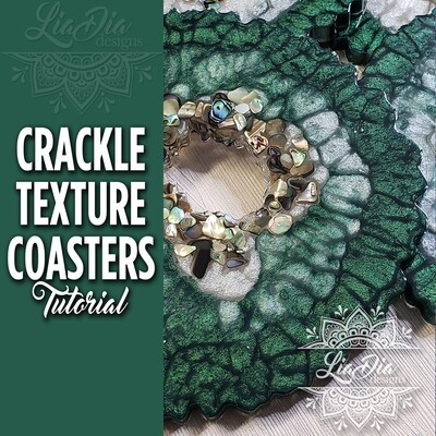 Crackle Texture Coasters - Video Tutorial