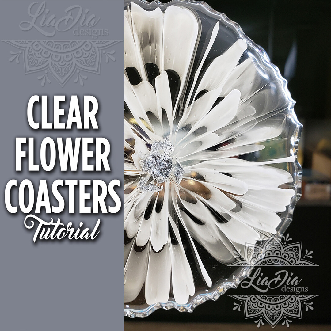 Clear Flower Coasters - Video Tutorial
