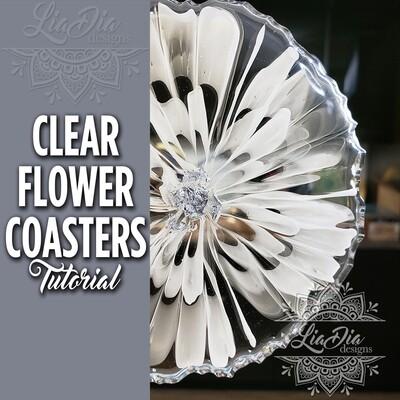 Clear Flower Coasters - Video Tutorial