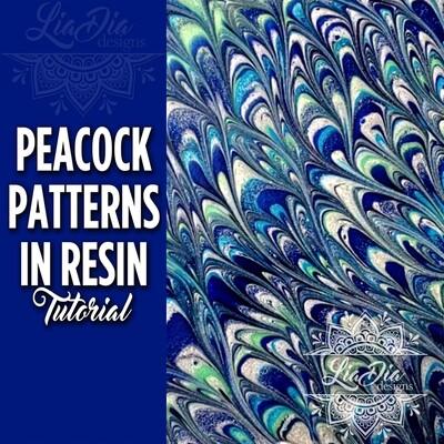 Peacock Patterns in Resin - Video Tutorial