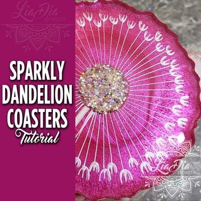 Sparkly Dandelion Coasters - Video Tutorial
