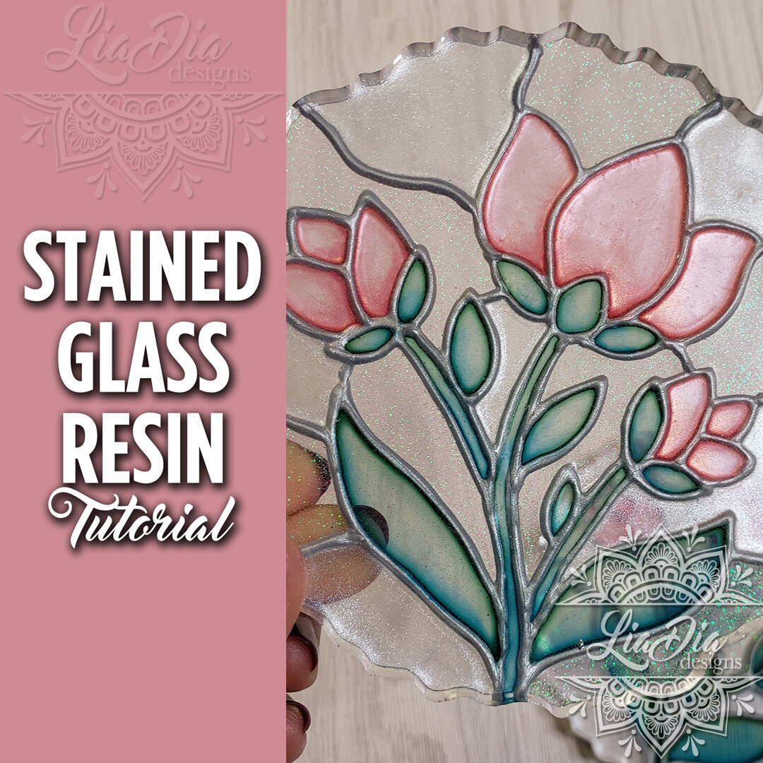 Stained Glass Resin Technique - Video Tutorial