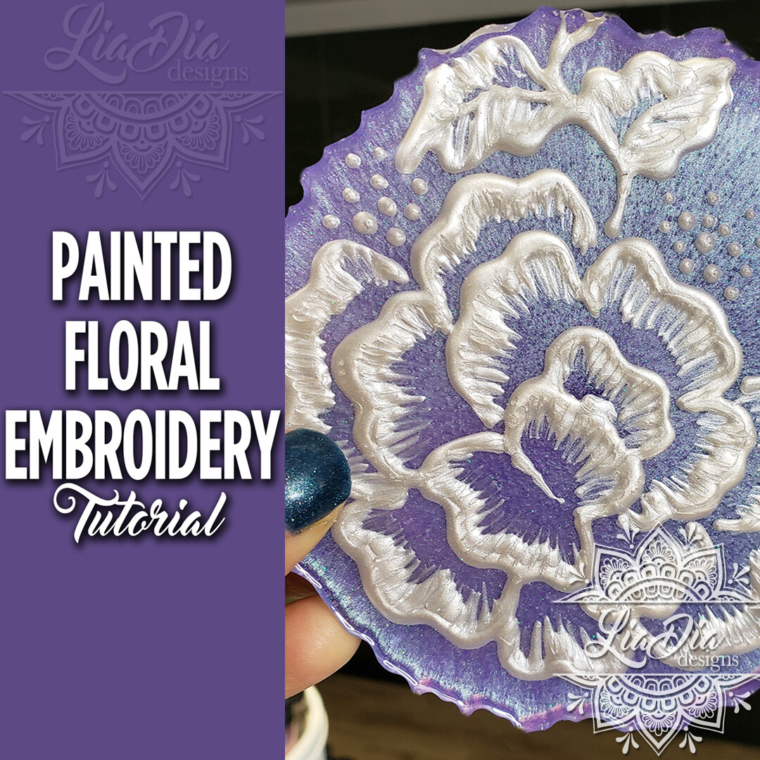 Painted Floral Embroidery Technique - Video Tutorial