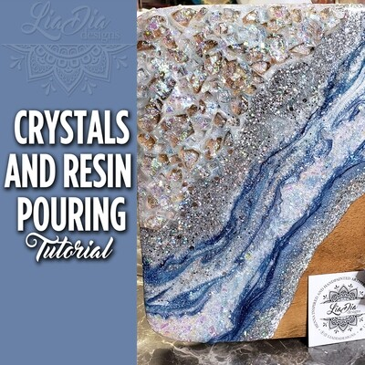 Crystals and Resin Pouring Technique - Video Tutorial