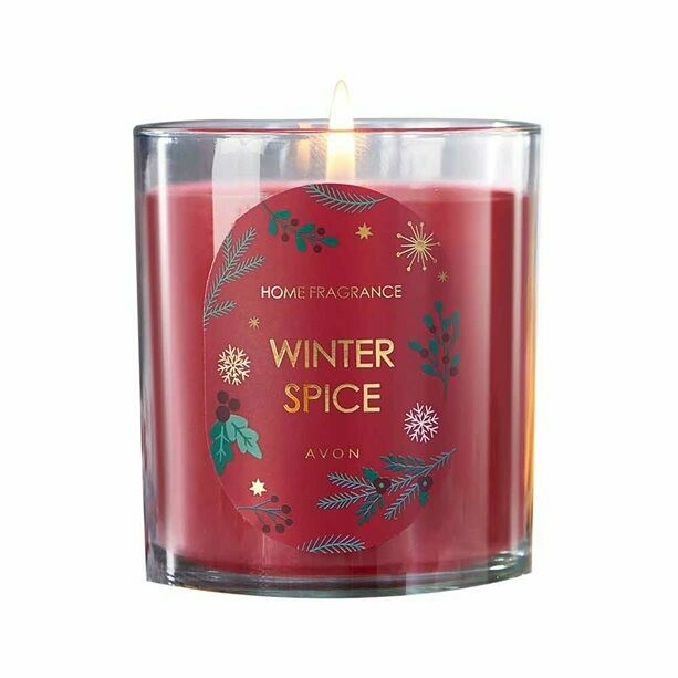 Winter Spice Glass Candle