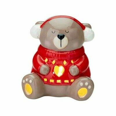 Ceramic Bear LED Tealights Set Earmuffs