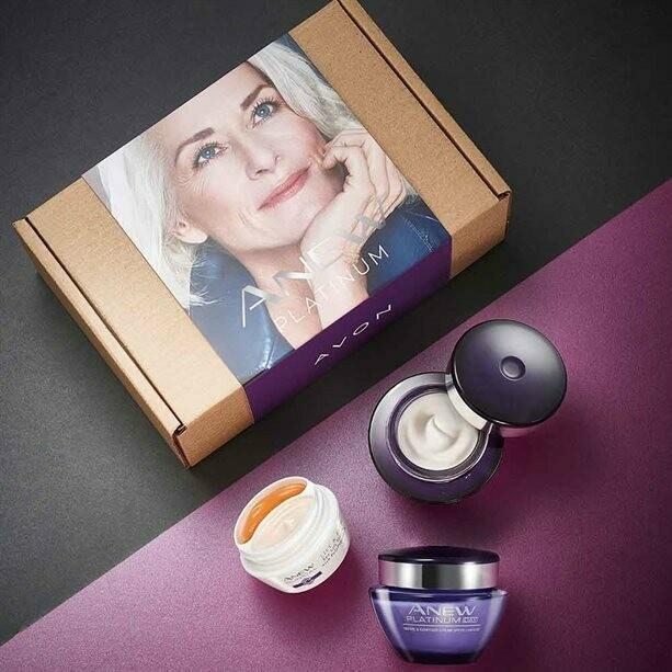 Anew Platinum Day, Night and Eye Cream Skincare Set
