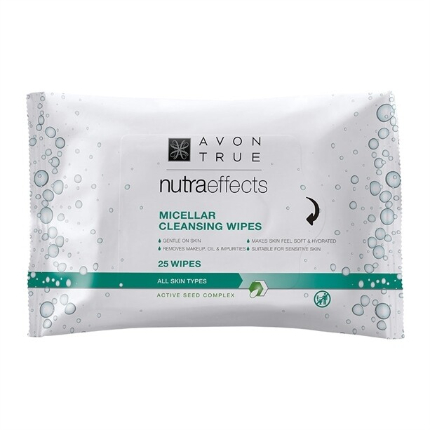 Avon True Nutra Effects Micellar Cleansing Wipes