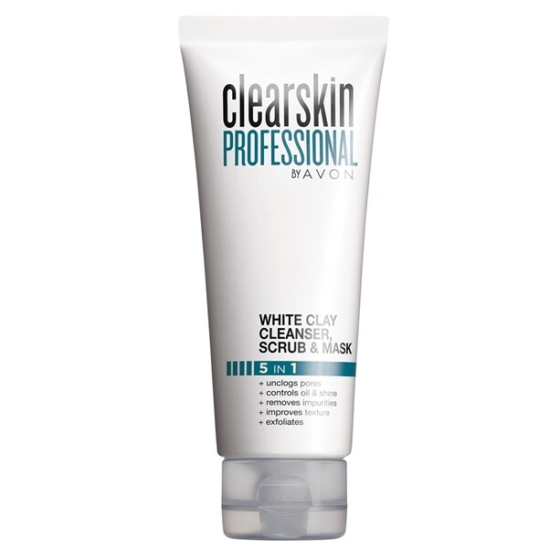 Clearskin Professional White Clay Cleanser, Scrub and Face Mask - 75ml