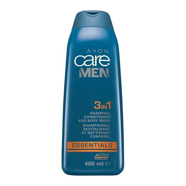 Mens Essentials 3-in-1 Shampoo, Conditioner and Body Wash - 200ml