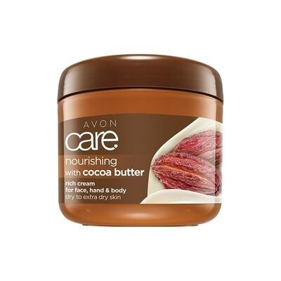 Avon Care Nourishing Cocoa Butter Rich Cream for Face, Hand & Body - 400ml