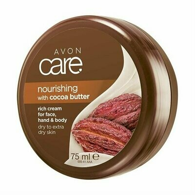 Avon Care Nourishing Cocoa Butter Rich Cream for Face, Hand & Body - 75ml