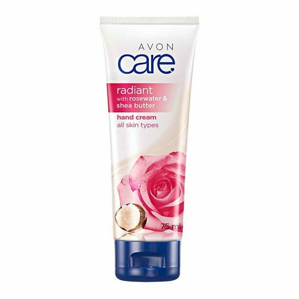 Avon Care Radiant Rosewater & Shea Butter Hand Cream - 75ml