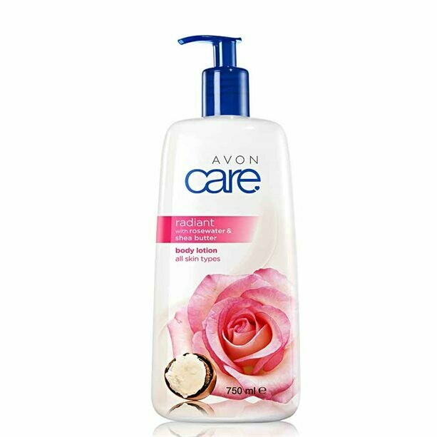 Avon Care Radiant Rosewater & Shea Butter Body Lotion - 750ml