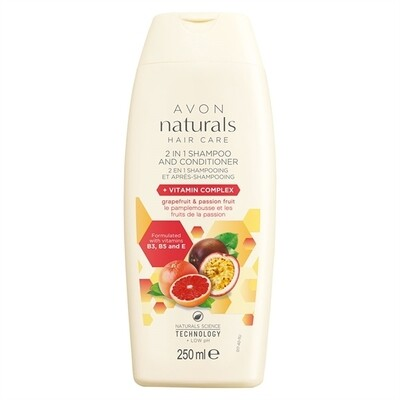 Grapefruit & Passion Fruit 2-in-1 Shampoo & Conditioner - 250ml