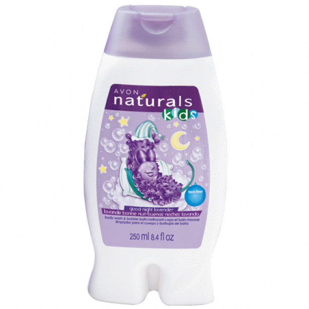 Good Night Lavender Body Wash & Bubble Bath - 250ml - Goodnight Lavender Duo Set