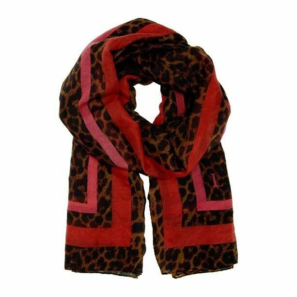 Lipsy Leopard-Print Scarf