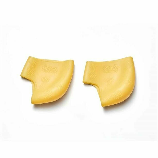 Silicone Heel Enhancer Socks - Pineapple Edition
