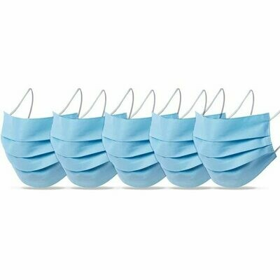 Pack of 5 Reusable Face Coverings - Blue