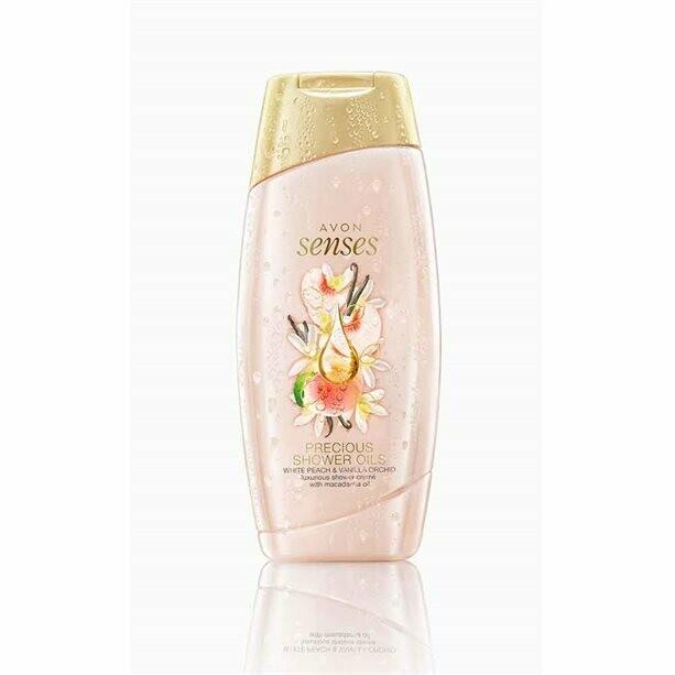 Senses Precious Oils White Peach & Vanilla Orchid Shower Crème - 250ml